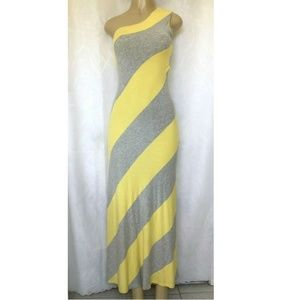 Ted Baker Caty Dress One Shoulder Striped Maxi Sle